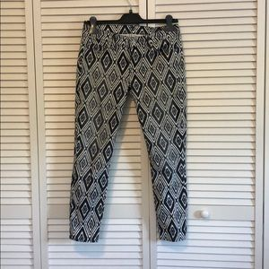 Seven cropped skinny jeans ikat print